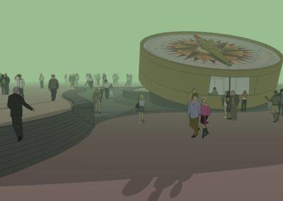 Design and 3D impressions of information kiosk the compass