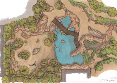 Sketch design Hippo enclosure