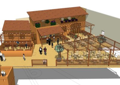 Design and 3D impression for a restaurant in Yucatan indoor playground