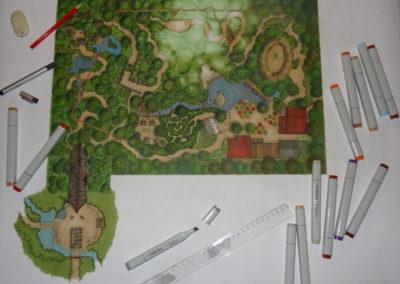 Sketch desing Tropical greenhouse Avifauna Alphen aan den Rijn