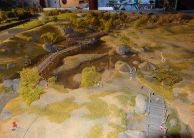 Detail of scale model (Savanna and Lion enclosure) Wildlands Adventure Zoo Emmen