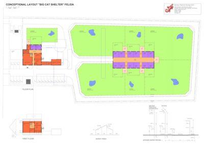 Conceptional layout Felida Big Cat Shelter