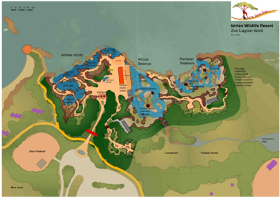First sketch Istrian Zoo lagoon