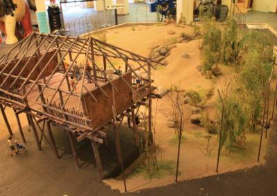 Scale model Lions enclosure Emmen Zoo